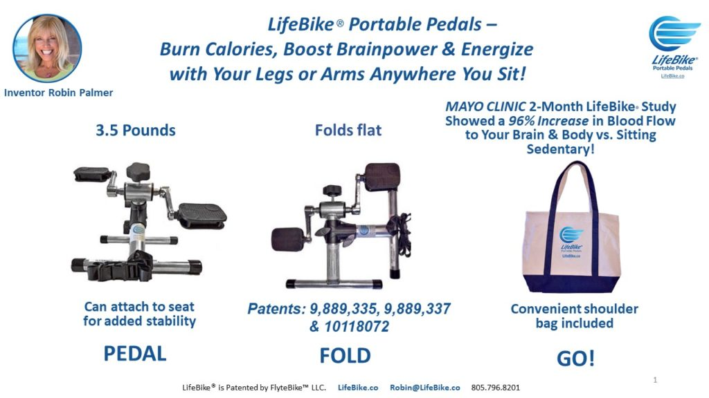Burn Calories, Boost Brainpower and Energize with LifeBike - Portable Pedals